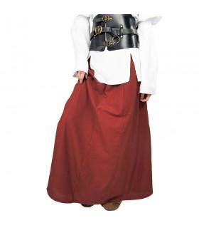 Skirt medieval model Diana, red