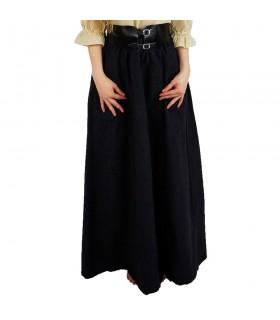 Skirt medieval model Diana, black