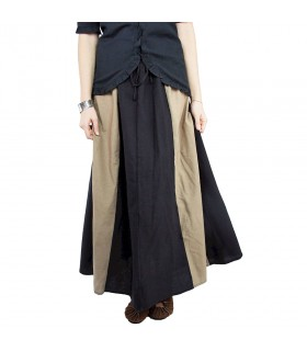 Skirt medieval model Diana, black-brown