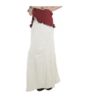 Skirt medieval woman, Smilla, natural white