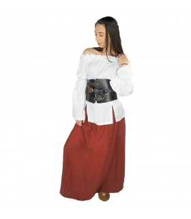 Skirt medieval woman, Smilla, red