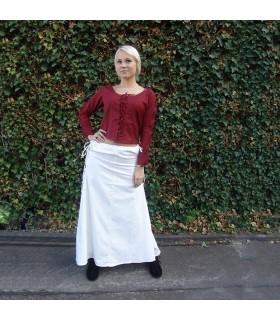 Skirt medieval model, Noita, color white
