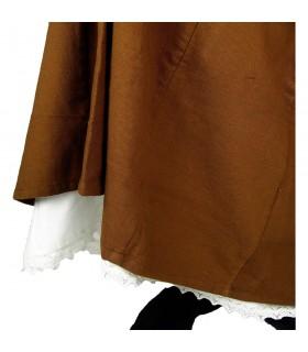 Petticoat with ruffles model Manon, natural white