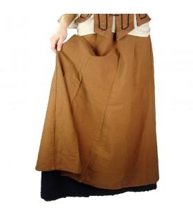 Petticoat with ruffles model Manon, black