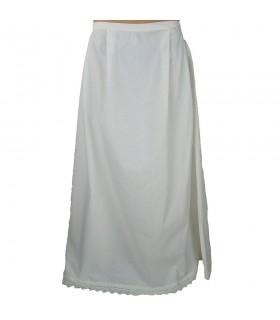 Petticoat with ruffles model Manon, white