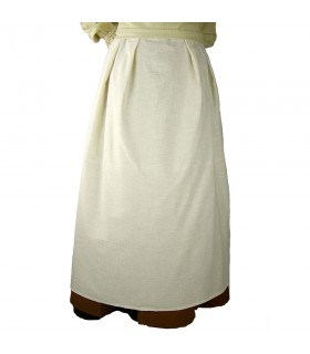 Apron medieval model Lola, natural white