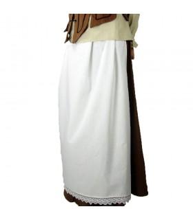 Apron medieval model-Jade, colour-white