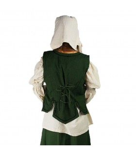 Vest medieval woman model Selma, green