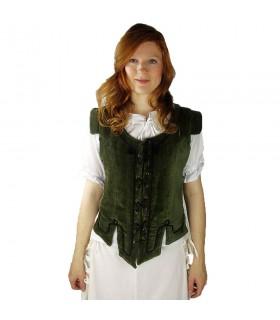 Vest medieval model Adrienne, green