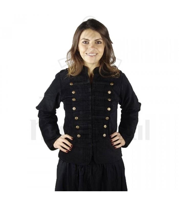 Jacket pirate Captain Emilia, black