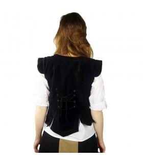 Vest pirate Captain Adaliz, black