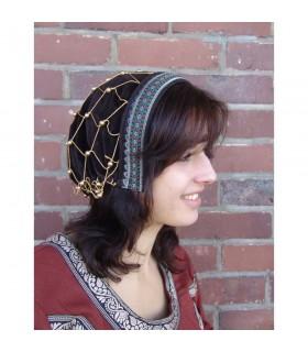 Headdress medieval noble Elaine, brown