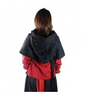 Gugel medieval wool model Anita, black