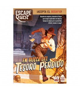 Board game Escape Quest, In search of the lost Treasure, in Spanish