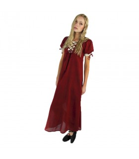 Medieval summer dress with laces