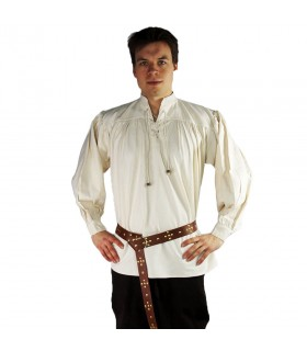 Shirt medieval model Leopold, color natural white