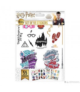 Set of 55 stickers of Harry Potter