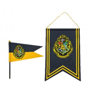 Flag and banner Hogwarts in Harry Potter