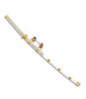 Tachi Ceremonial white, sheath lacquered wood
