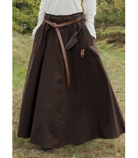 Skirt medieval long dark brown