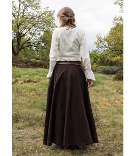 Skirt medieval long dark brown