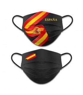 Face accessory reversible Level 3, Spanish Flag