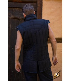 Gambesón Warrior medieval sleeveless, color black