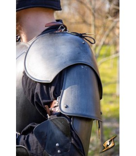Shoulder pads Warrior medieval, black finish