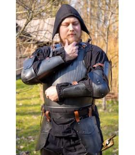 Protective, medieval arm, black finish