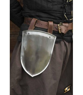 Escarcelas medieval Squire, polished finish