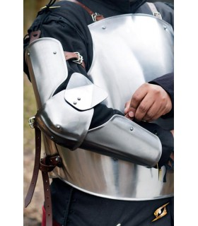 Protective, medieval arm, polished finish