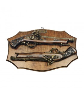 Panoply of wood with guns