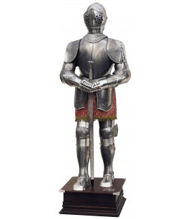 Natural Armor silver sword with engravings and hands