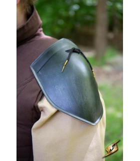 Shoulder pads medieval simple Squire, dark finish