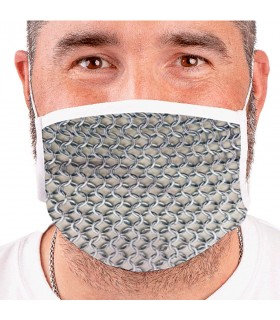 Mask Medieval chainmail Reusable (for adults)