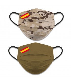 Face accessory reversible Level 3, Camouflage Camo