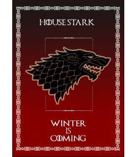 Banner Game of Thrones House Stark (50x70 cms.)