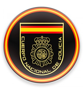 Magnet National Body of the Spanish Police CNP, a black background, for fridge