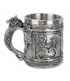 Mug decorative medieval dragon