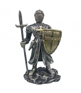 Figure Knight Templar with spear and shield (15 cm)