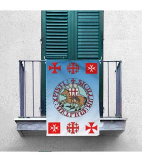 Banner Medieval Knights and Templars Crosses (70x100 cms.)