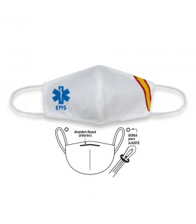 Face accessory TNT emergency white