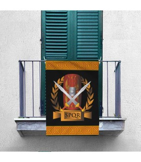 Banner Legion Romana SPQR, shield and gladius (70x100 cms.)