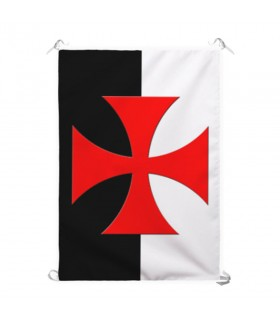 Standard two-tone Templar Cross Formy (70x100 cms.)