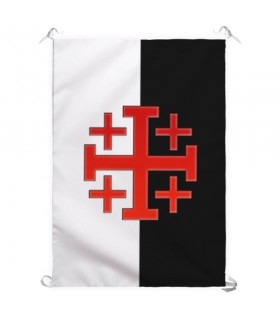 Banner with Cross Order Holy Sepulchre of Jerusalem (70x100 cm.)