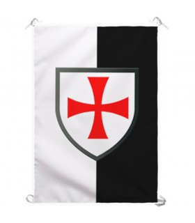 Banner Bicolor with Cross Formy Templar Knights (70x100 cms.)