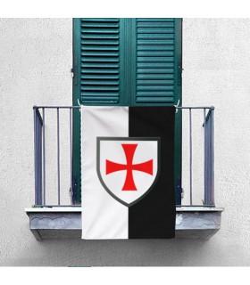 Bicolor Banner with Knights Templar Paté Cross (70x100 cms.)