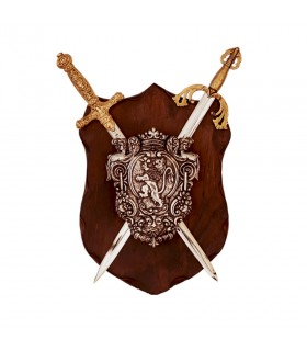 Panoply Lion rampant and swords