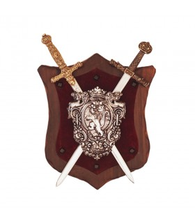 Panoply Lion rampant and swords traditional