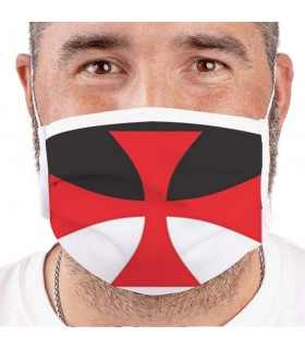 Mask Templar Cross Reusable and Approved (for adults)